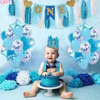1st cumpleaños de niña y niño de cumpleaños decoración con globos 1 decoración para fiesta de primer cumpleaños niños un año decoración de ducha de bebé niño Babyshower