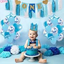 1st anniversaire garçon fille anniversaire ballons décor 1 premier anniversaire fête décoration enfants un an bébé douche décor garçon babyrain
