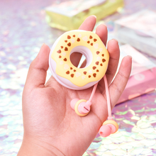 Cute Donuts Macarons 3.5mm In-ear Earphones GdBaMa Stereo Wired Earbuds With Mic Earphone Case for Kids iPhone Xiaomi MP3 Gifts cute stereo earbuds 3 5mm green