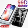 99D полное покрытие, высококачественное закаленное стекло для iPhone 11 Pro XS MAX X XR SE 2020, Защита экрана для iPhone 8 7 6 6S Plus, стекло