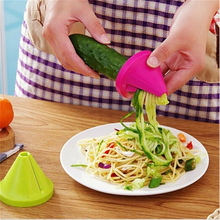 Vegetable Fruit Multi-function Spiral Shredder Peeler Manual Carrot Radish Rotate Kitchen Accessories