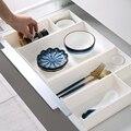 Регулируемый пластиковый ящик для хранения, пластиковый ящик для шкафа, разделитель для ящика, органайзер для макияжа, контейнер для мелоче...