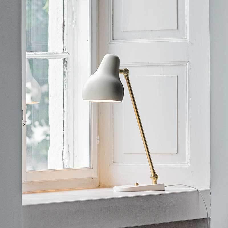 Скандинавский современный стол в стиле минимализм огни для спальни рядом с лампой белый/черный настольная лампа E27 для чтения - 3
