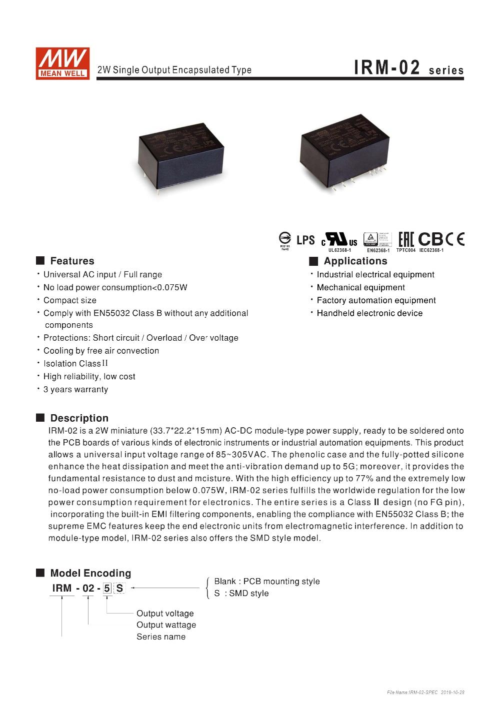 IRM-02-SPEC-1
