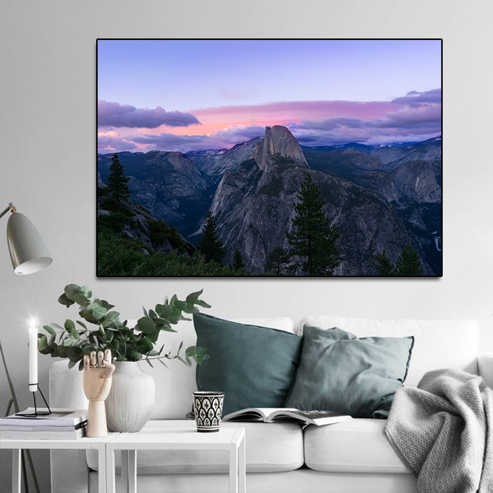 Rocky Mountain Landscape Canvas Painting Poster Wall Art Picture Home Decor