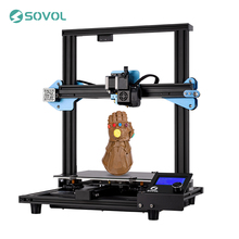 2019 Newest 3D Printer Sovol SV01 Direct Drive Extruder Large Print Size 240*280*300mm Meanwell Power Supply Tempered Glass Bed
