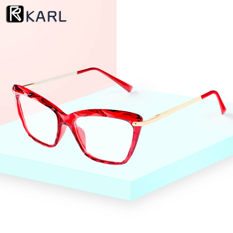 Transparent Clear Glasses Frame Women Cat Eye Optical Computer Eyeglasses Frames For Women Fashion Sexy Fake Glasses Spectacles