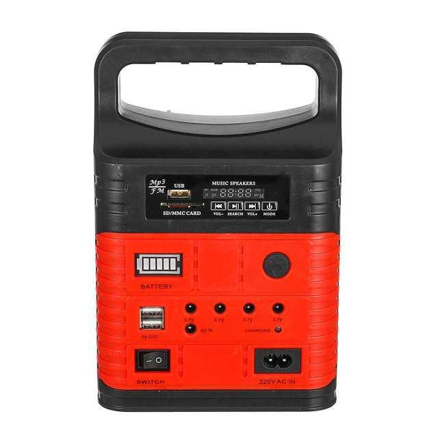 3 LED Solar Lighting System Kit 7500mAH USB Charging Household Generator Kit Outdoor Power Supply MP3 Radio Flashlight Emergency 4