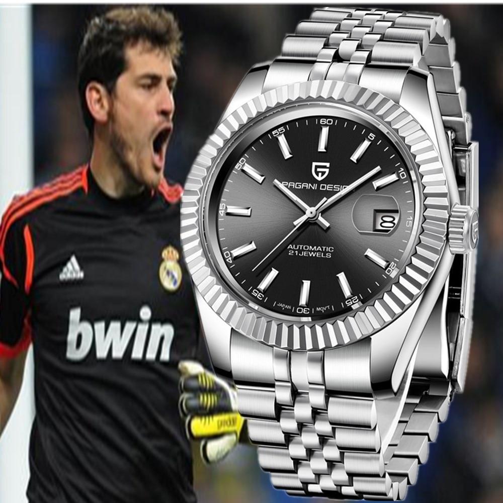 PAGANI Дизайнерские мужские часы, Роскошные, серия Ghost, классические, Rolexable, автоматические, водонепроницаемые, механические, NH35A, мужские, t Cyclops часы + коробка