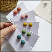 LANIWOO Simple Matte Candy Color Stud Earrings 5 Colors 2021 New Fashion Trendy Jewelry Elegant Cute For Women Girls Accessory