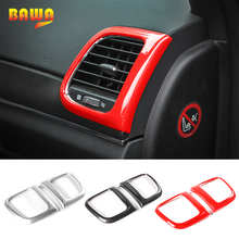 цена на BAWA Interior Mouldings for Jeep Grand Cherokee 2011+ ABS Air Conditioner Outlet Vent Sticker Trim for Jeep Grand Cherokee