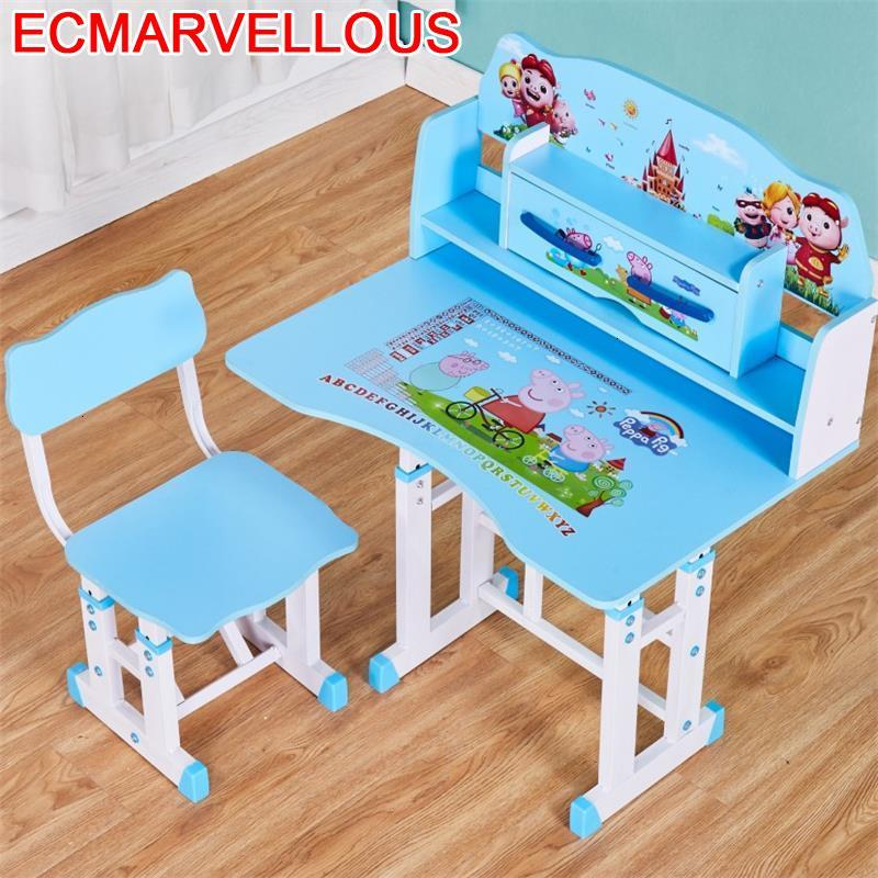 Baby Mesa De Estudo Pupitre Infantil Play Tavolino Bambini Desk And Chair Adjustable Bureau Kinder Enfant For Kids Study Table