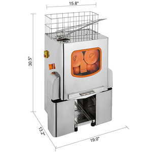 Image 2 - VEVOR Oranje Juicer Citrus Juicer Elektrische Fruit Juicer Machine Citrus Lemon Lime Automatische Auto Feed Commerciële