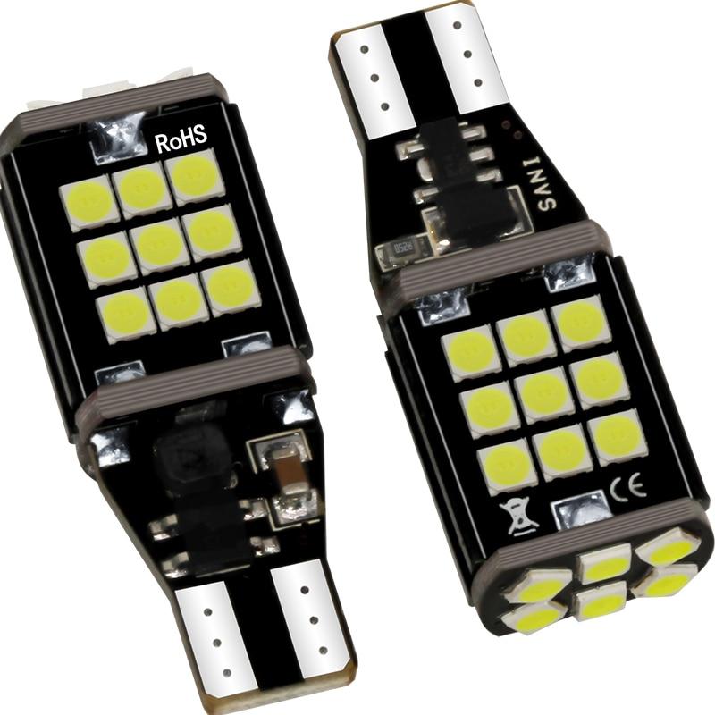 Автомобильный тормозной светильник T15 4014 45smd декодирования Плавная высокого светильник обратный светильник сигнала поворота canbus светодиод...