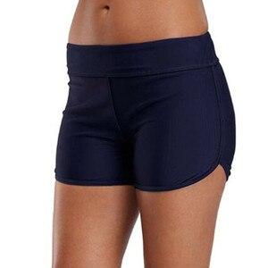 Summer Women Swim Bottom Black Blue Bikini Tankini Shorts Female Swimwear Beach High Waist Lady Femme Maillot De Bain #T1P