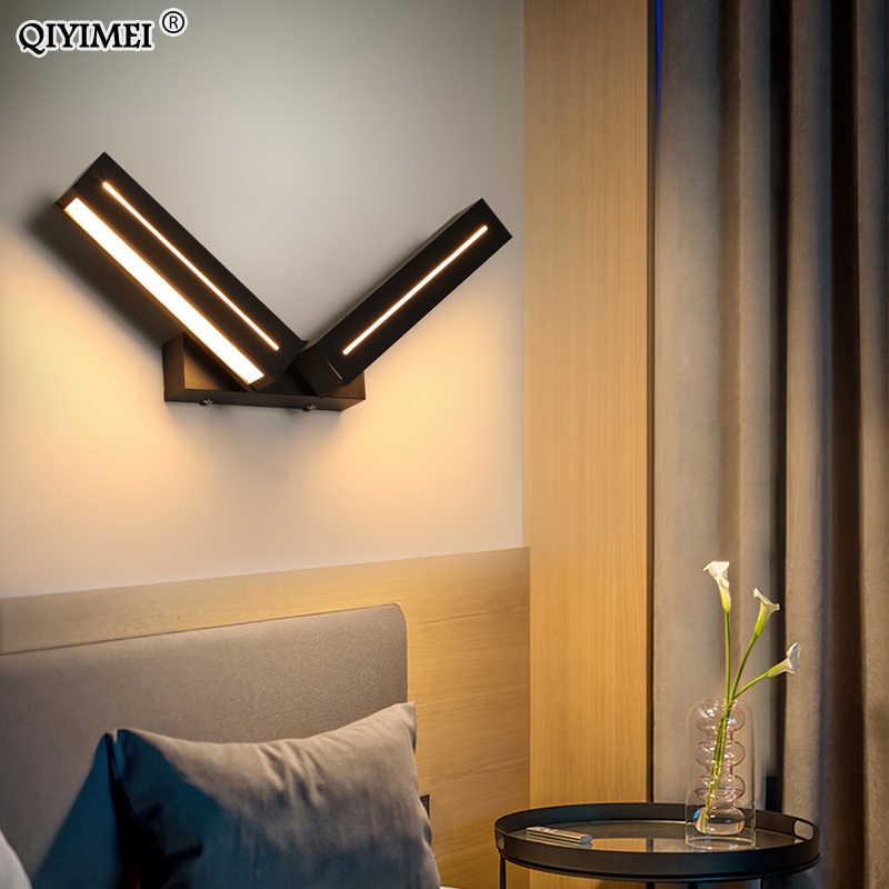 Крытый новый светодиодный настенный светильник для прикроватной учебы комната смонтированный бра свет 8 Вт кофе белая рамка осветительные приборы Luminaria Wandlamp