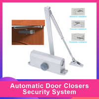 Automatic Door Closers Security System Adjustable Closing/Latching Speed Aluminium For Left And Right Hand Doors 25-45 Kg 900M