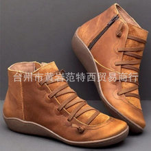 2020 England Wind Work Clothes Martin Boots Ma'am High Help Short Boots Leisure Time Woman Boots Zapatos De Mujer Women Shoes(China)