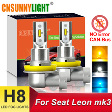 CNSUNNYLIGHT 2Pcs B1 H11 H8 LED Car Fog Light No Error 2400Lm 6000K 3000K 8000K Auto DRL Lamp CANBus Bulbs for Seat Leon MK3
