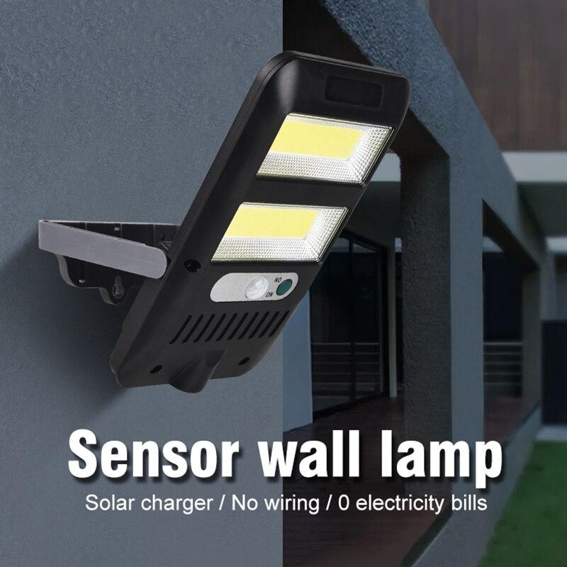 LED Solar Light COB Outdoor Wall Lamps 6W/8W PIR Motion Sensor IP65 Waterproof Solar Garden Light Emergency Lighting Street Lamp