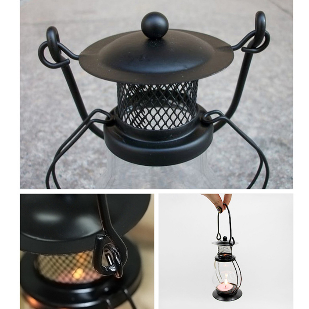 Portable Vintage Lantern, Camping Lantern Tent Light With For Candles Cover, Night Lights For Home Garden Decor And Emergency