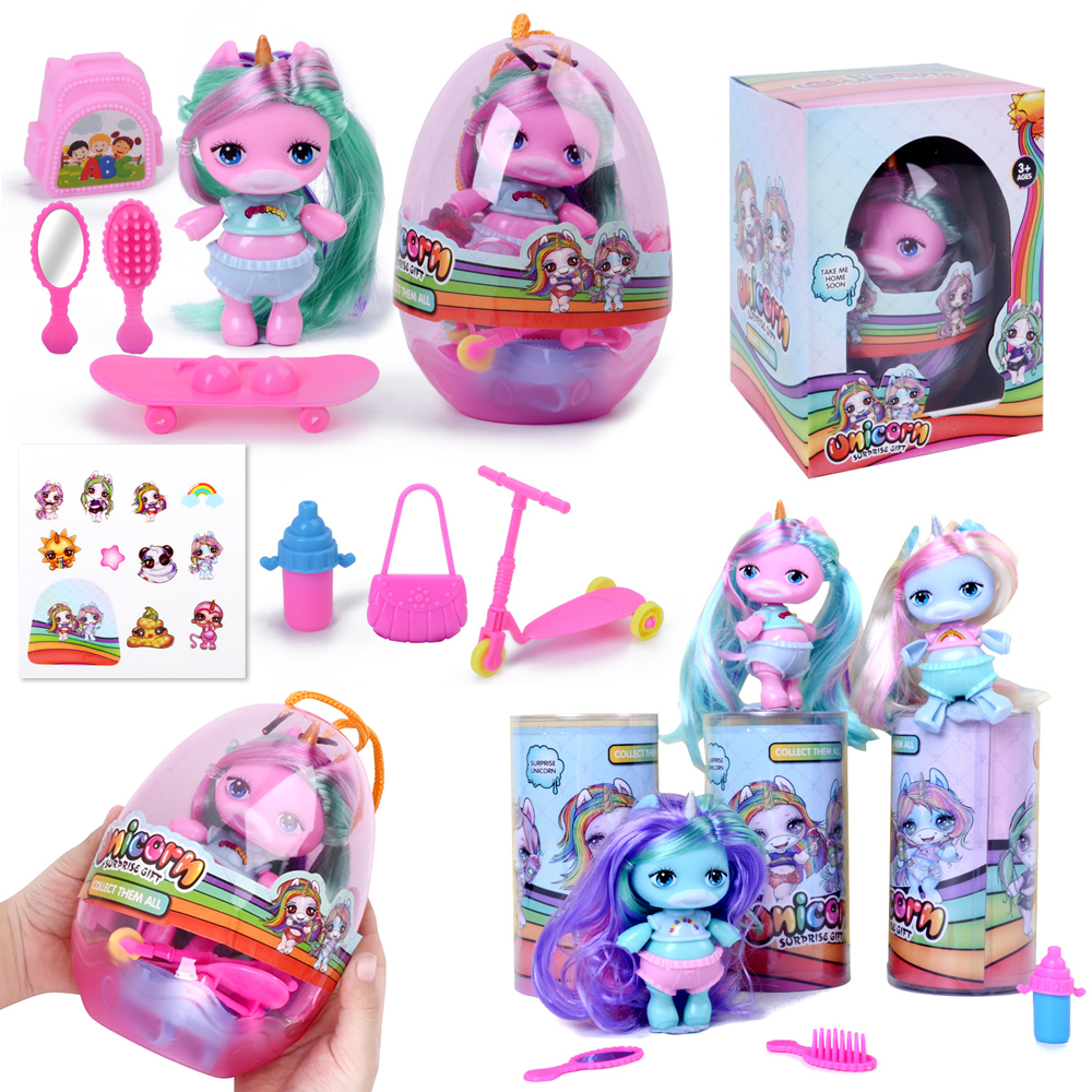 Original Lols Doll Figure Toy Poopsies Silcone Slime With Bottle Unicorn Dolls Collection Figures Toy For Children Girl Gifts