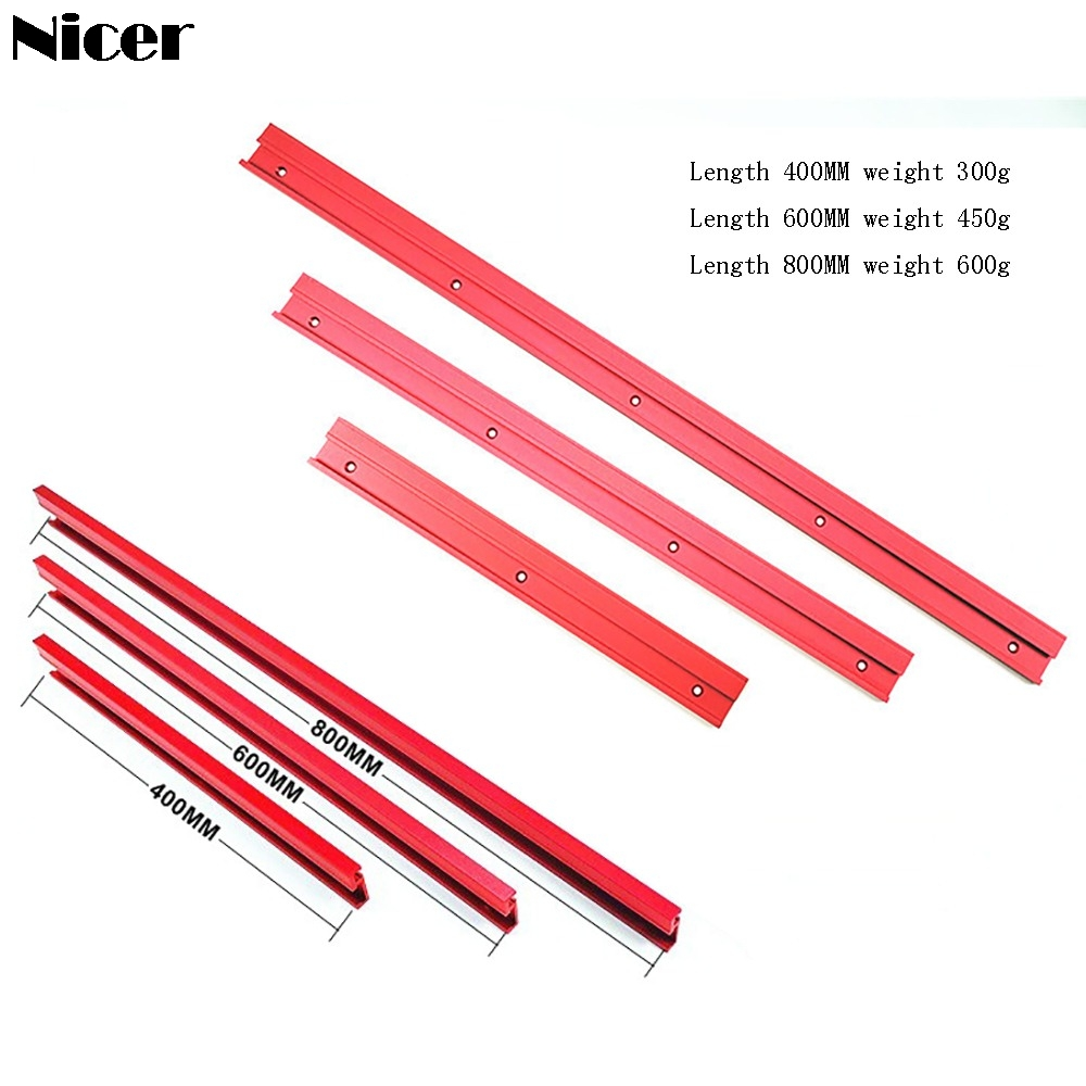 400/600/800MM 45 Type T-track T-slot Miter Track Jig Aluminium Alloy Miter Track Stop Woodworking DIY Tools For Table Saw Pusher