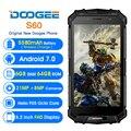 Doogee S60 Беспроводной зарядки смартфона Android 7,0 Helio P25 Octa Core 6 Гб 64 Гб Quick Charge 21MP 4G глобальная Версия Мобильный телефон