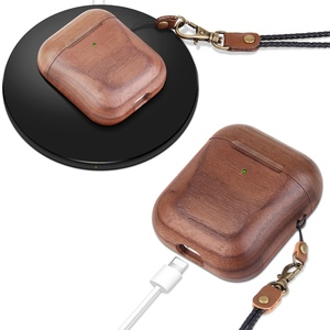 Image 3 - Wooden Case For AirPods Case For AirPods 2 Cover Nature Wood Original Handcrafted Protect Cover For Airpods Premium Leather Sewn