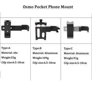 Image 2 - Vlog Cell Phone Clip Bracket Desktop Tripod Fixed Holder Stand Mount for DJI Osmo Pocket Handheld Gimbal Camera Accessories Set