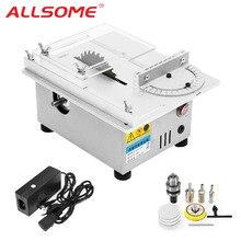 ALLSOME T4 мини настольная пила ручной работы деревообрабатывающий токарный станок Электрический полировщик шлифовальный станок DIY циркулярная пила