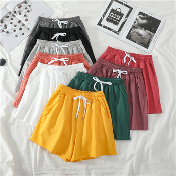Women Shorts Summer Casual Solid Drawstring shorts high waist loose shorts for girls Soft Cool female short M-2XL danjeaner 2017 summer casual loose cotton high waist shorts youth solid slim drawstring elastic waist shorts women shorts mujer
