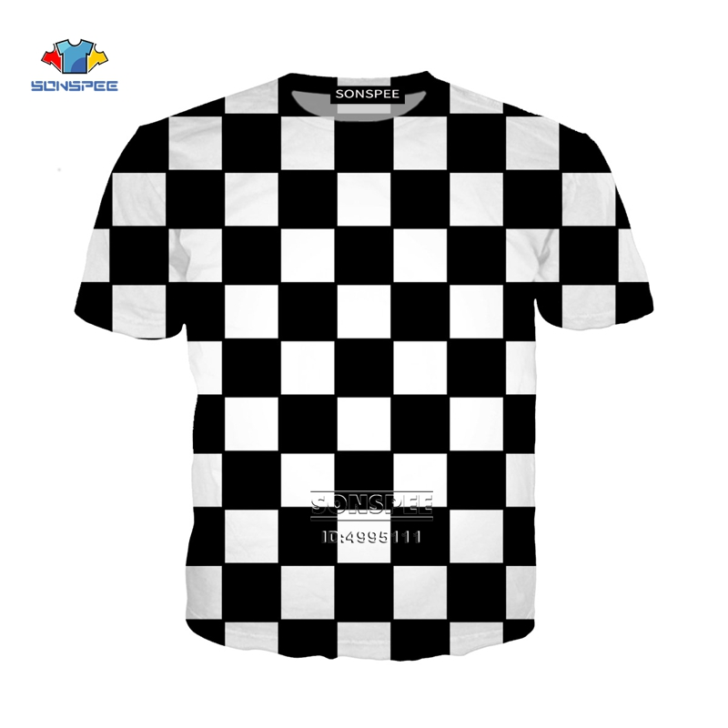 New Funny Chess Board 3D Print Women Men's T-shirts Harajuku T-shirts Summer Tshirt Hip Hop Clothes Casual Oversized Streetwear