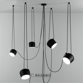 Nordic modern simple personalized restaurant small drum chandelier living room clothing store bar Italian aim Chandelier фото