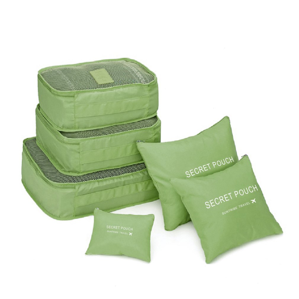 6 шт./компл. нейлон упаковка кубики комплект сумка организатор большой емкости дорожные сумки ручной багаж одежда сортировки аптечки