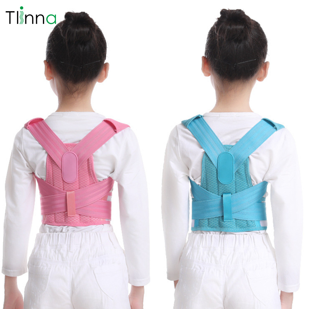 Tlinna Children Back Belt Kids Posture Corrector Back Shoulder Support Belt Adult Corset Protection Braces  For Girl Boy