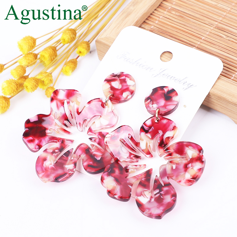 Agustina2020 Flower Earrings Women Dangle Fashion Earrings Jewelry Girls Drop Earrings Cute Earring Small Earings Wholesale Boho