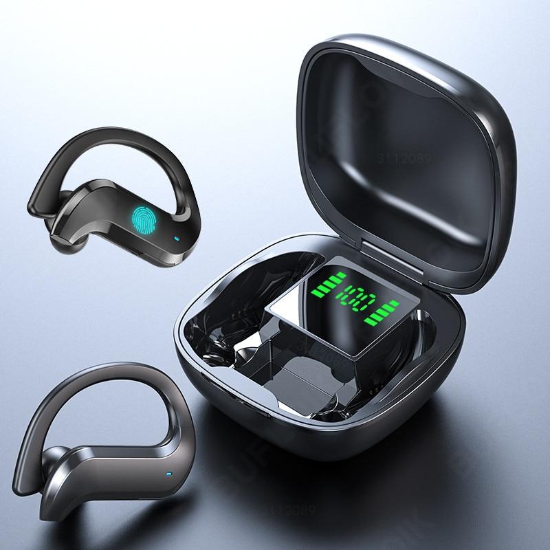 Tws Draadloze Hoofdtelefoon Bluetooth Oortelefoon Ruisonderdrukkende Sport Waterdichte Headset 9D Stereo Draadloze Oordopjes Met Microfoon 1