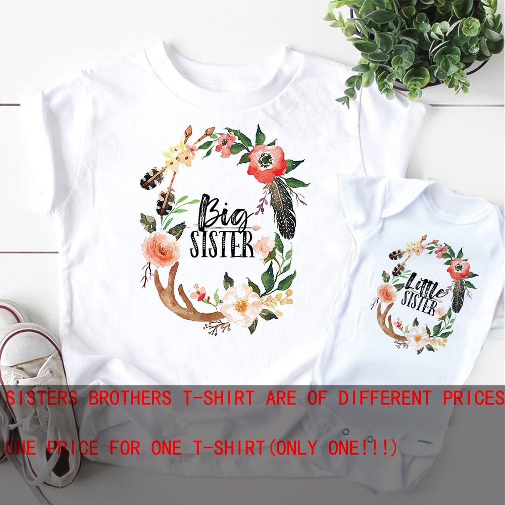 Сияющие рубашки для сестры, подходящая футболка, рубашки для старшей сестры, женский наряд для сестры