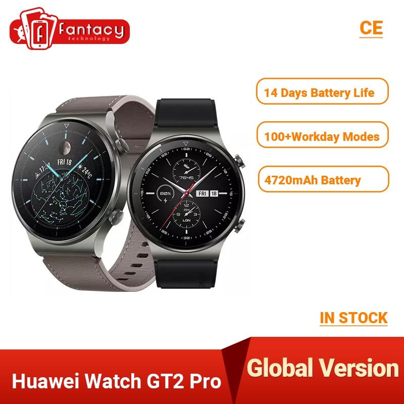 Global Version Huawei Watch GT 2 PRO Smart Watch GPS 14 Days Battery Life Waterproof Phone Wireless ChargingFor Android iOS    - AliExpress