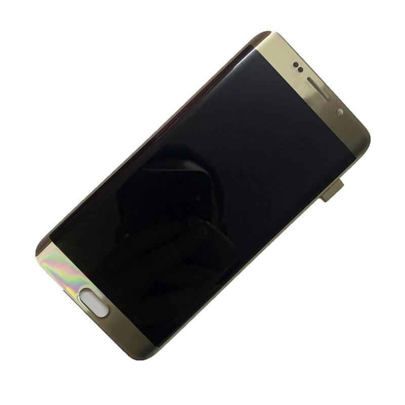 עם שחור דוט המקורי AMOLED תצוגת LCD עבור סמסונג S6 קצה בתוספת LCD G928U G928A G928F מגע מסך Digitizer עצרת