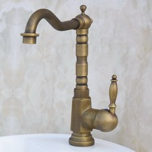 Black Oil Rubbed Brass Single Handle Swivel Spout Kitchen Sink Faucet  Cold & Hot Mixer Tap aan017