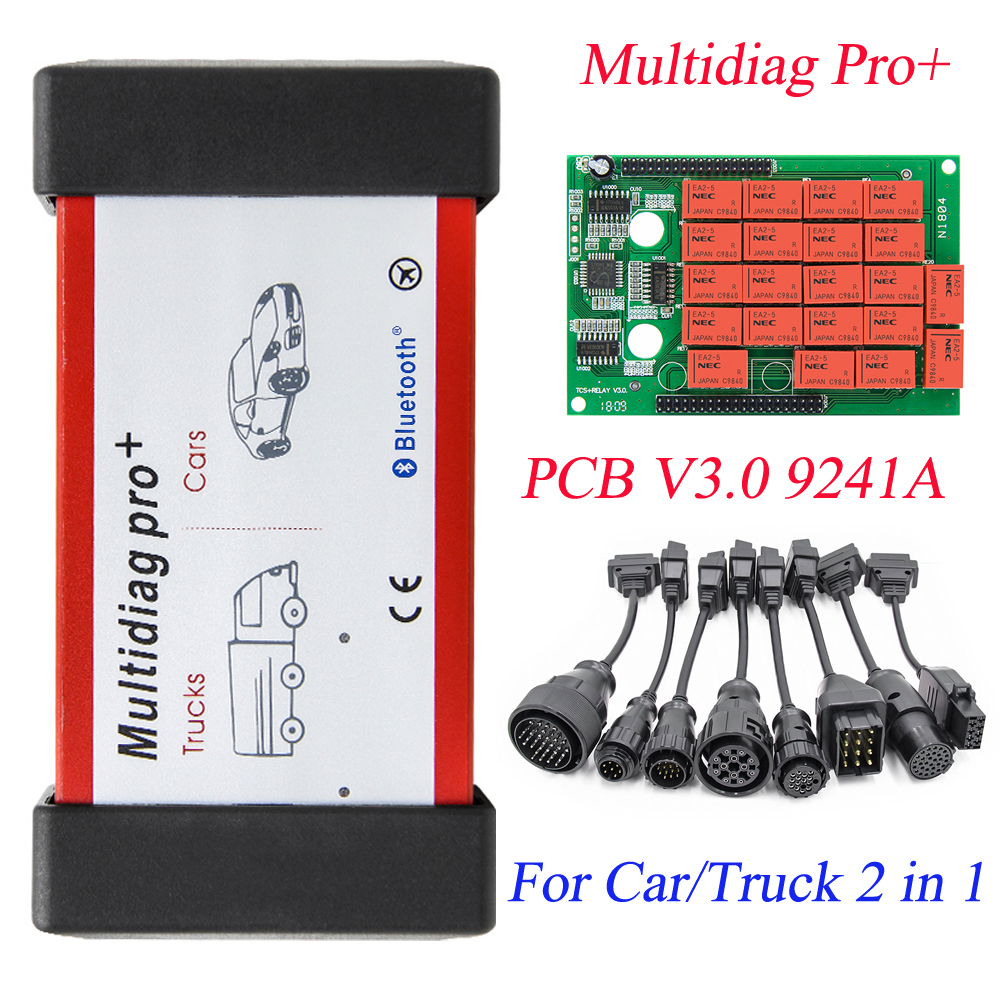 Multidiag Pro+ Bluetooth USB 2016.R1 Keygen V3.0 NEC Relays Obd2 Scanner Cars Trucks OBDII Diagnostic Tool C-dp Tcs Car Cable