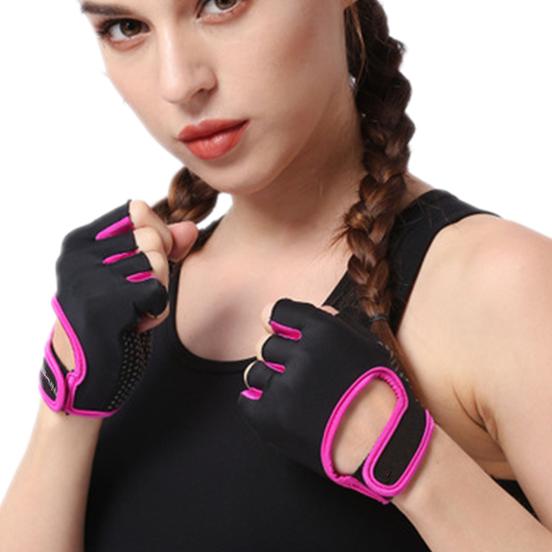 Anti-slip Weight Half Finger Women's Gym Gloves Men Women Training Fit Bodybuilding Weightlifting Fingerless Fintness Gloves