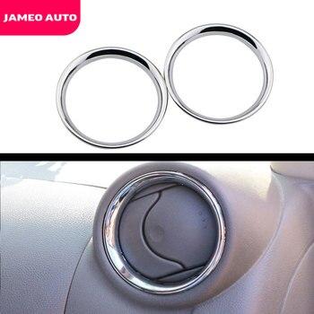 Para Nissan Versa Almera Latio 2012, 2013, 2014, 2015, 2016, 2017 Cromo/C de ventilación de aire anillo recorte cubierta accesorio adhesivo para coche