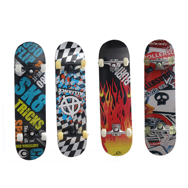 Profession Four Wheel Skateboard Maple Brush Street Highway Children Adult Scooter Men And Women Double Snubby Long Board Manufa