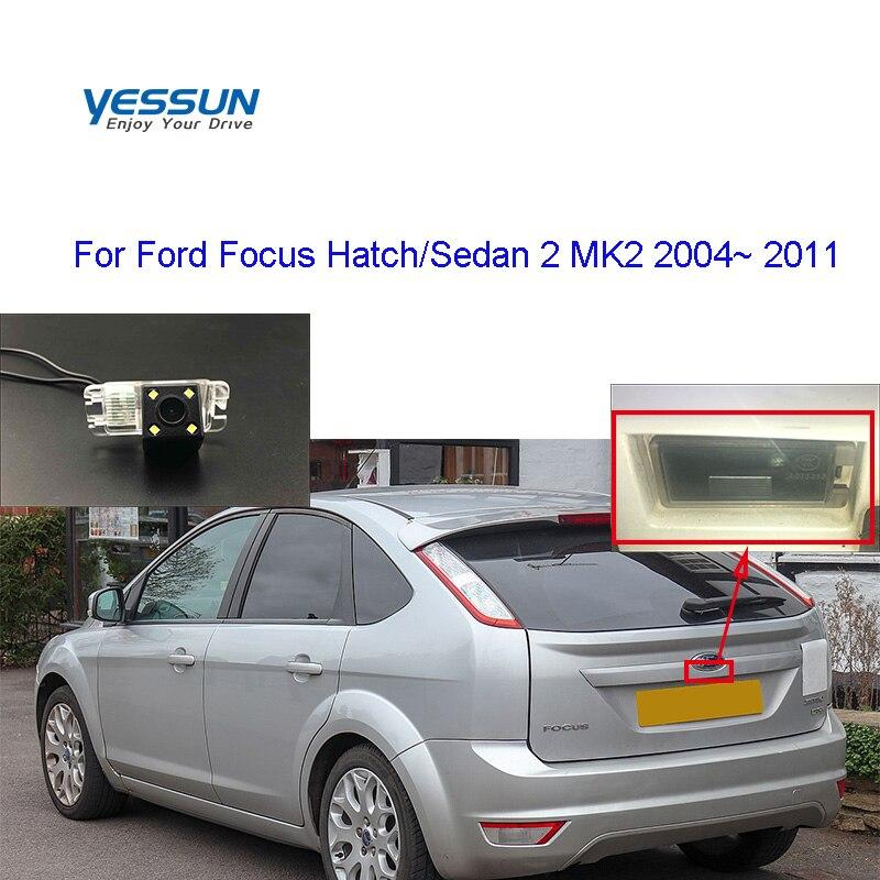 Yessun araç yedekleme arka görüş kamerası Ford Focus Hatch/Sedan 2 MK2 2004 2005 2006 2007 2008 2009 ~ 2011 plaka kamera