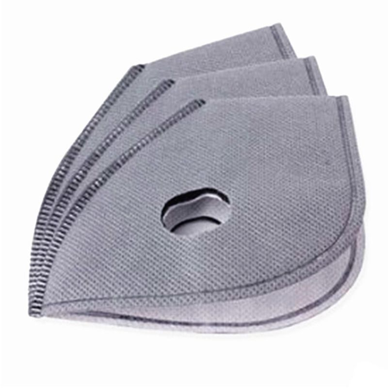 5Pcs PM2.5  Activated Carbon Protective Filter 5 Layers Sheet Replacement Insert For Cycling Dust Prevention Mouth Mask