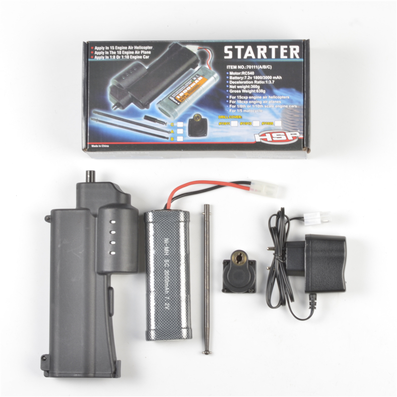 HSP Accessories Electric Starter For Vertex RC Fuel Car 70111 Electric Starter 16  18 21 Engine Starter Kit