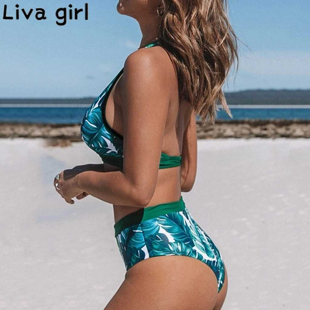 Wanita Musim Panas Pita Pengikat Rambut Satu Setelan Jas Wanita Push-Up Perban Swimwear Mandi Baju Renang Wanita Brasil Swimwear Beachwear Bikini